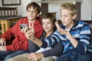 Guys taking their own picture- For the Day in the Life page (2)